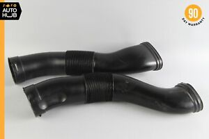 03-08 Mercedes R230 SL500 Air Intake Duct Pipe Hose Left & Right Set of 2 60k