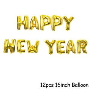 16inch Happy New Year Balloons Home Family Party Décor 2022 eve 12pcs/16pcs