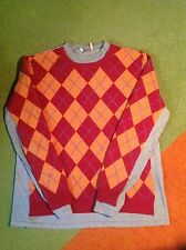 FLASH PARTNERS - RA.RE - LAMBSWOOL ARGYLE SWEATER - HIP STYLING - XL