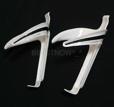 1Pair IDIO 3k Full Carbon Water Bottle Cage White 19g,74mm