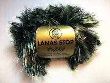 10 Stk Lanas Stop RABBIT Farbe 010 Luxuswolle 10x50 Gra Garn Wolle Fell