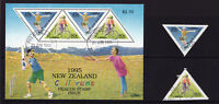 New Zealand - 1995 Children's Sports - CTO Used - SG 1884-1885 + MS1886