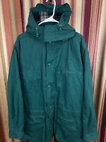 Vintage Men's LL Bean Soft Shell Jacket Fleece Lined Large Blue Warm up Full Zip