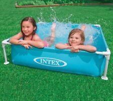Intex Wading Pool Frame Pool 120cm x120cm Square Kids Kiddie Swimming Pool Blue
