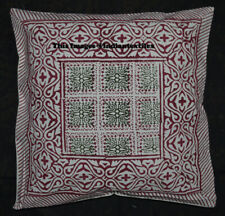 New Indian Cotton Cushion Pillow Cover Home Decor Decorative Hand Block Print
