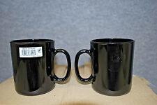 1-Box of 12 / Cardinal #73442 ARCOROC BLACK 10.5 oz Glass Mugs (#S5787)