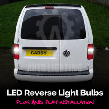 2x VW Caddy Blanco LED Bombillas De Luz Reversa Respaldo UPGRADE * Venta *