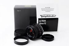 [Near Mint] Voigtlander Ultron 28mm f/2 MF Lens from japan #C43kk228