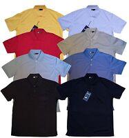 New Mens Plain Poly Cotton Pocket Pique Polo Collar T- Shirt Casual S-5XL