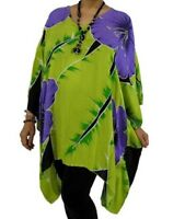 NWT PLUS SIZE -SZ 10-26 - MULTI FIT - SUNDRENCHED - SHORT TUNIC HIBISCUS DESIGN