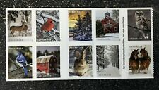 2020USA Forever Winter Scenes - Block of 10 From Booklet  Mint