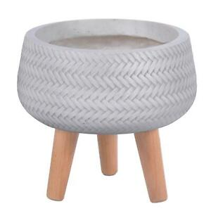 IDEALIST Plaited Style Bowl Indoor Planter with Legs