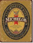 Anheuser Busch Michelob Lager Logo New Tin Metal Sign Bar Beer Imported Hops