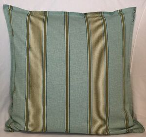 "Cushion Cover light Green Cotton striped Home Sofa Décor UK 18"" zip Pillow Case"