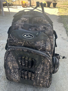 Drake Waterfowl Swamp Sole walk in backpack - blind bag used Realtree Timber