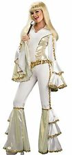 Sexy 70s Funky Dancing Disco Queen Mod Hippie Costume Bell Bottoms 70's - Fast