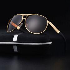 Polarized Sunglasses Men's Retro Aviator Metal Outdoor Drving Eyewear Glasses