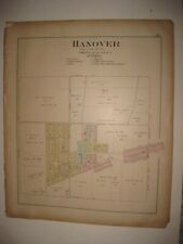 ANTIQUE 1902 HANOVER now HANOVERTON COLUMBIANA COUNTY OHIO HANDCOLORED MAP RARE