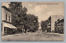 Richmond Street AMHERSTBURG Ontario—Essex County TROLLEY Rare Antique 1910