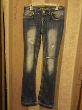 Womens Juniors Almost Famous Jeans Size 5 Distressed Holes
