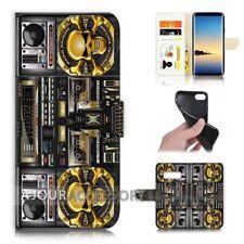 ( For Samsung S10 ) Wallet Flip Case Cover AJ21627 Skull Boom Box