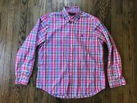 Ralph Lauren Men's Long Sleeve Button Front Plaid Shirt Size XL