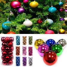 24X Plástico árbol de Navidad Navidad Bolas Decoración bolas Fiesta Boda Adorno
