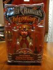 Power Rangers Wild Force Deluxe Red Savage Battle Power Ranger Action Figure