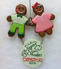 Gingerbread Man & Girl Sugar And Spice Christmas Tree Ornament
