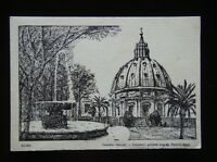 ROMA - GIARDINI VATICANI - VATICAN'S GARDENS AND ST. PETER'S DOME - POSTCARD
