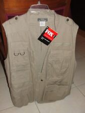 !POCKETS! Photographer VEST Fox Endurance Safari Outdoor Khaki Mens !NEW! LARGE