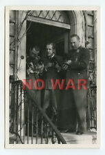 WWII PHOTOS LUFTWAFFE Generalmajor Albrecht Massow w OFFICER & DOG W SMALL PUPPY