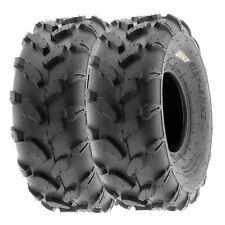 SunF 19x7-8 ATV UTV Tires 19x7x8 All Terrain Tubeless 6 PR A003  [Set of 2]