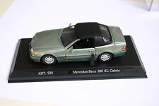 1/43 Mercedes Benz 320Sl Cabrio Verde Metálico Rellenar Detail Cars Modelo