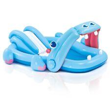 Piscina ippopotamo gonfiabile con scivolo spruzzo gioco bambini 57150 Intex
