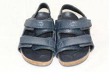 Kids Burberry Rango Colorblock Leather Strap Sandals- 8US / 25 - Navy Blue $255