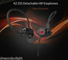 KZ ZS3 Detachable HiFi In Ear Stereo Earphones Wired Headphone Noise Cancelling
