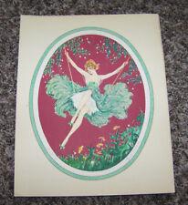 """Vintage Antique Marcel Leboulte Boudoir 8"""" X 10"""" Art Print 1930 """"The Swing"""""""