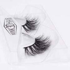 Hot 1Pair Glamorous Handmade Length Eyelashes Natural Mink Hair Fake Eye Lash