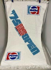"NEW 1975 Pepsi US Tennis Open Championship Towel Forest Hills New York 37"" x 21"""