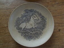 Vintage 1970s Stoneware Poole Pottery FOAL HORSE Dish Plate Barbara Linley Adams