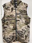 Under Armour UA RUT Fleece Mens Barren Camo Sleeveless Hunt Hoodie Vest SZ L