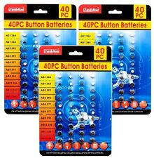 3x 40pcs of Assorted Batteries Super Alkaline Set Watch Calculators Cameras NEW