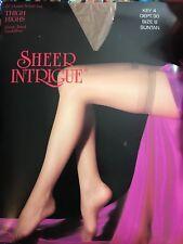 Sheer Intrigue 20 Denier Nylon Thigh Highs In Suntan Size B  Made In USA