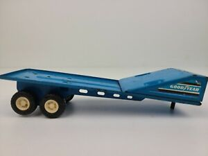 Vintage Buddy L Goodyear Truck Semi Trailer Only Blue Pressed Steel