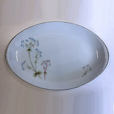 "Vintage Meito Heather Oval Serving Platter Bowl Flowers 12"""