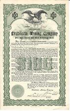 1910 MEXICO Predilecta Mining Company Bond, Stock Certificate