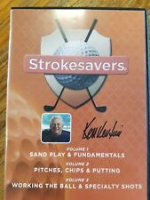 Brand New - Strokesavers Volume 1-3 Sand Play Pitches Working the Ball Dvd Golf