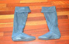 $495 BCBG BCBGMAXAZRIA Women Hughes Over The Knee Flat Boots Grey Sz 9.5 Pirate