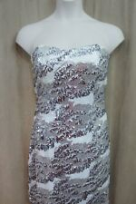 Trixxi Juniors Dress Sz 11 White Sequined Strapless Evening Shot Evening Dress